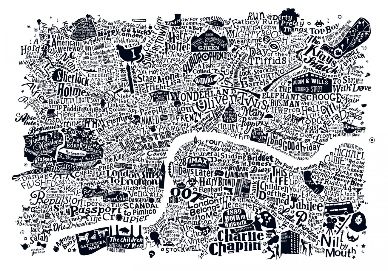 Film type map of london