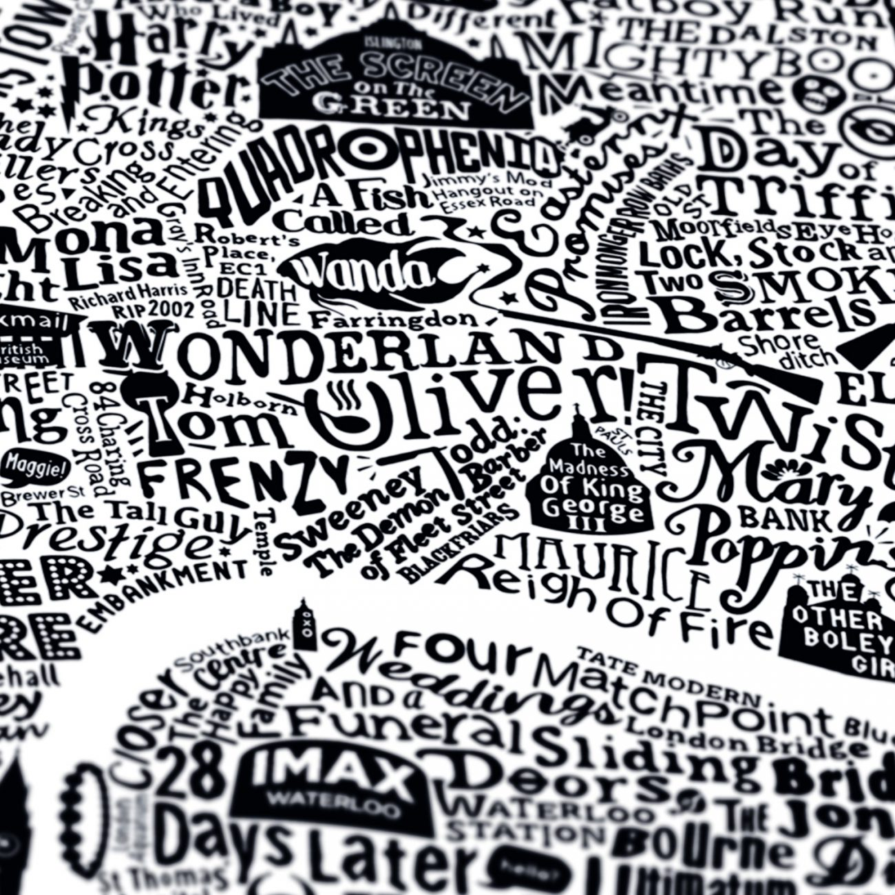 type map of london