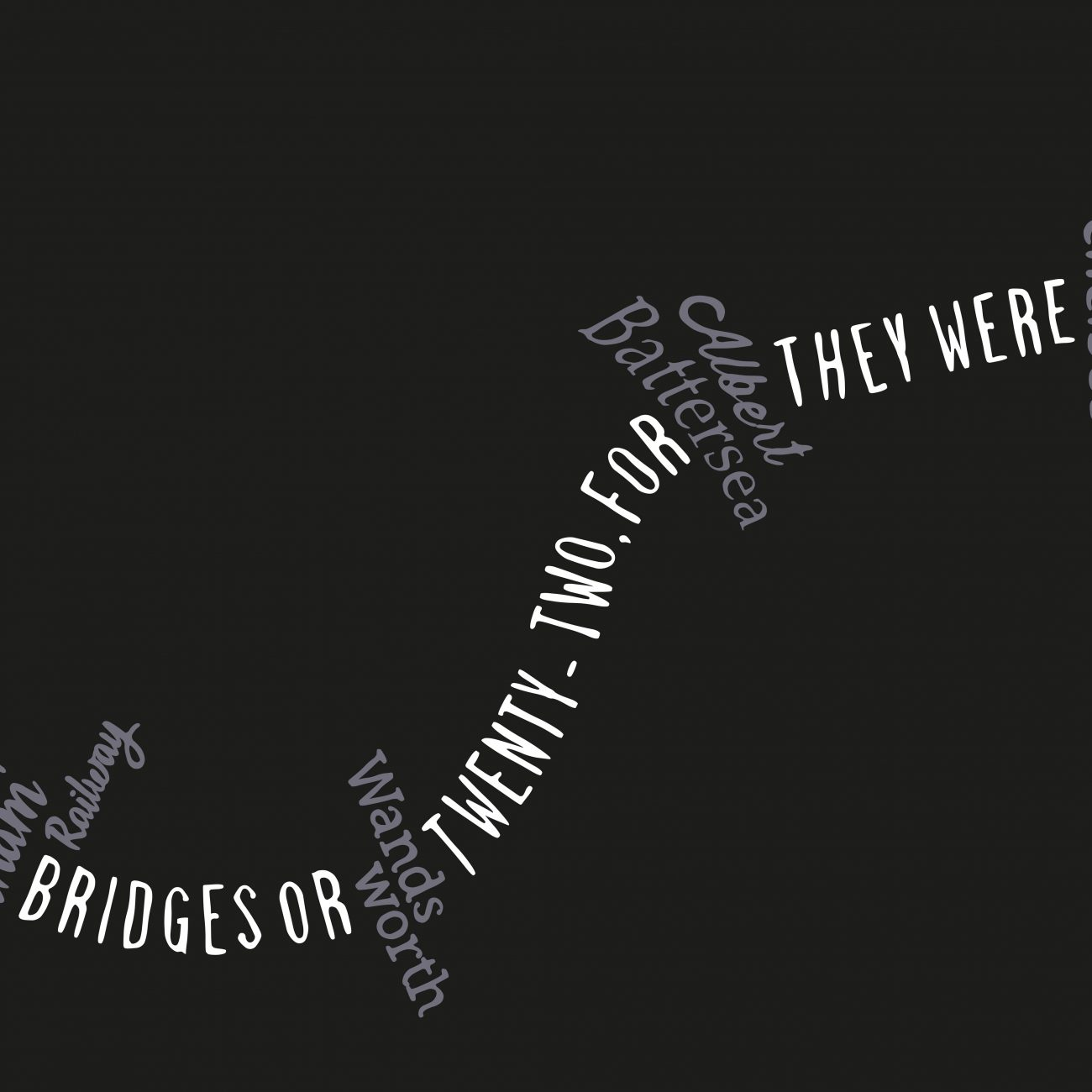 typographic art river thames