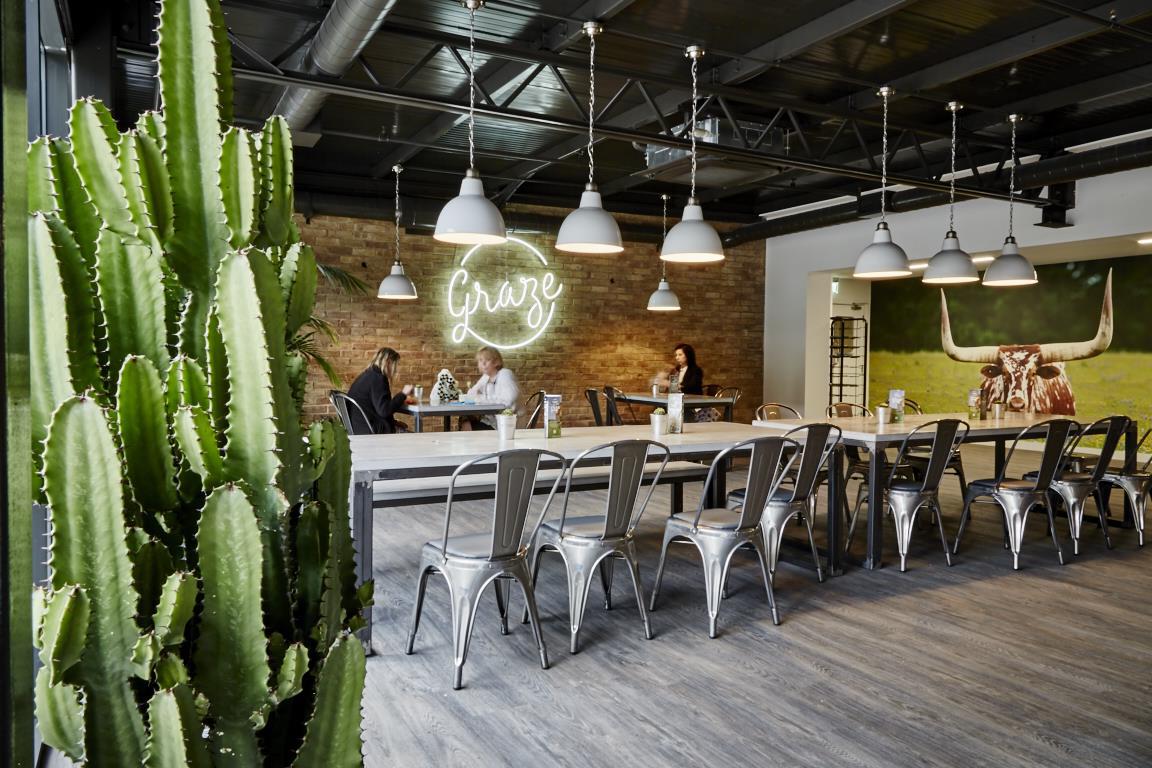 stylish cafe cool neon